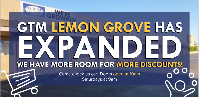 GTM Lemon Grove has now expanded