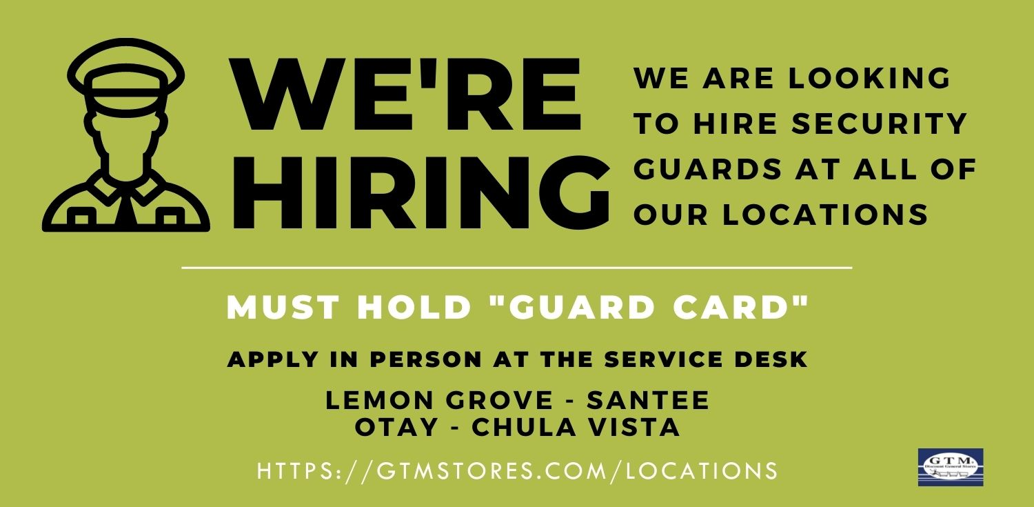Now Hiring Security Guards